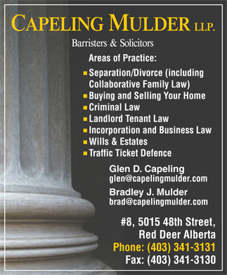 Capeling Mulder Law Office (403-341-3131) - Annonce illustr&eacute;e