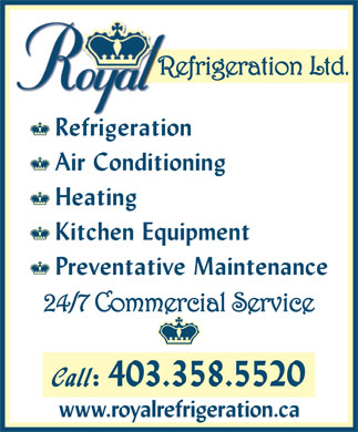 Royal Refrigeration Ltd (403-358-5520) - Display Ad