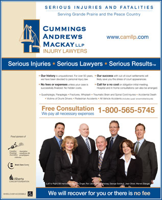 Cummings Andrews Mackay LLP (780-412-1873) - Annonce illustrée