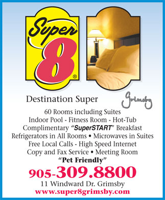 Super 8 Grimsby (905-309-8800) - Display Ad