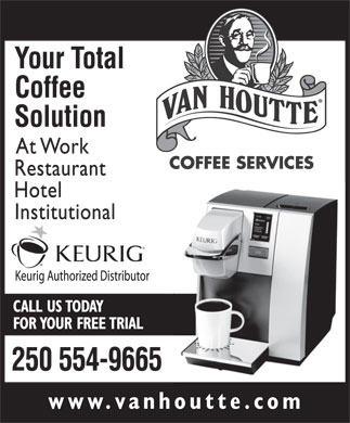 Van Houtte Coffee Services (250-554-9665) - Display Ad