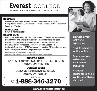 Everest College Of Business Technology &amp; Health Care (1-888-346-3270) - Annonce illustr&eacute;e