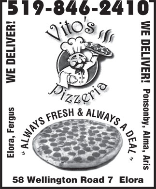 Vito's Pizza (1-888-231-7172) - Display Ad