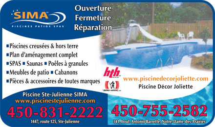 piscine ste julienne sima 1447 125 rte sainte julienne qc. Black Bedroom Furniture Sets. Home Design Ideas