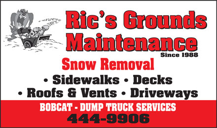 Ric's Ground Maintenance (867-444-9907) - Display Ad