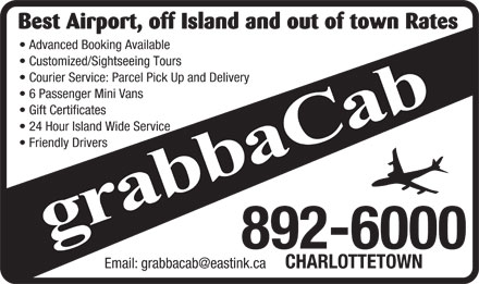 grabbaCab (902-892-6000) - Display Ad