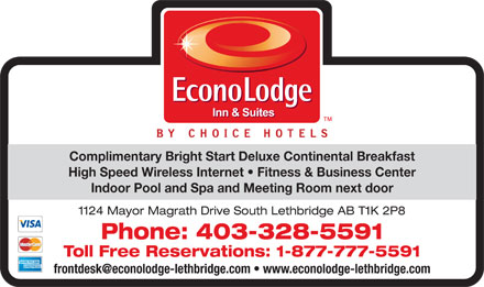 Econo Lodge & Suites Lethbridge (403-328-5591) - Annonce illustrée