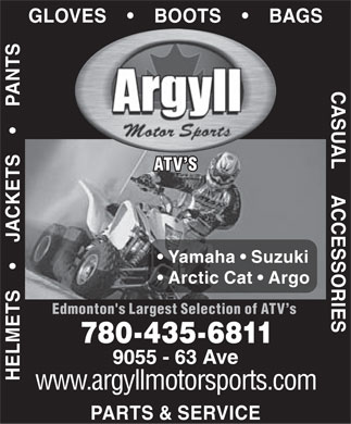 Argyll Motor Sports Ltd (780-435-6811) - Display Ad