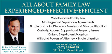 All About Family Law - Richard Clark Culpeper (1-888-329-1809) - Annonce illustrée