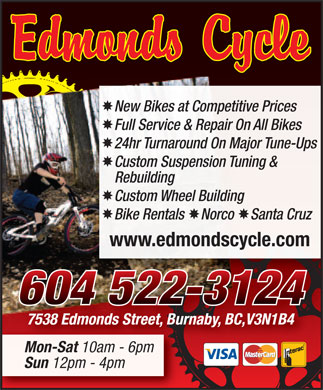 Edmonds Cycle (604-522-3124) - Display Ad
