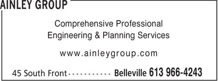 Ainley Group (613-966-4243) - Annonce illustrée======= - AINLEY GROUP - PLANNING SERVICES
