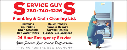 Service Guys Plumbing & Drain Cleaning Ltd (780-740-0167) - Annonce illustrée