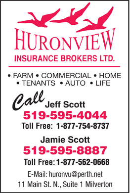 Huron View Insurance Brokers Ltd (519-595-4044) - Display Ad