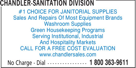 Chandler-Sanitation Division (506-658-8000) - Display Ad