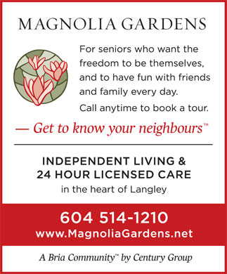 Magnolia Gardens (604-514-1210) - Display Ad