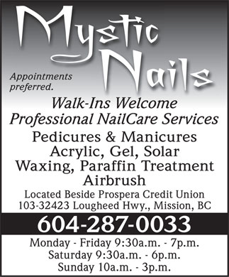 Mystic Nails (604-287-0033) - Display Ad
