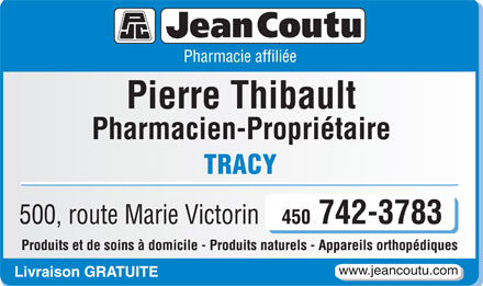 Jean Coutu (Pharmacie affili&eacute;e) (450-746-7840) - Display Ad
