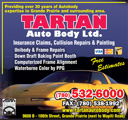 Tartan Auto Body Ltd (780-357-7241) - Annonce illustr&eacute;e