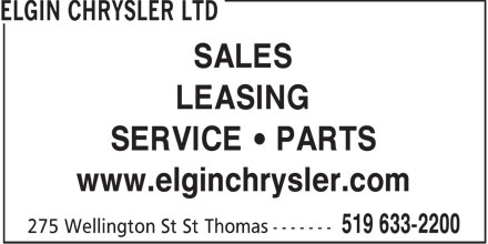 Elgin Chrysler Ltd (519-633-2200) - Display Ad - SALES LEASING SERVICE • PARTS www.elginchrysler.com  SALES LEASING SERVICE • PARTS www.elginchrysler.com  SALES LEASING SERVICE   PARTS www.elginchrysler.com  SALES LEASING SERVICE   PARTS www.elginchrysler.com  SALES LEASING SERVICE • PARTS www.elginchrysler.com  SALES LEASING SERVICE • PARTS www.elginchrysler.com  SALES LEASING SERVICE   PARTS www.elginchrysler.com  SALES LEASING SERVICE   PARTS www.elginchrysler.com