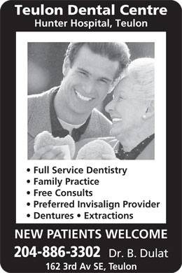 Teulon Dental Centre (204-886-3302) - Display Ad