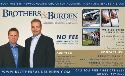Brothers & Burden Law Offices (709-639-3400) - Display Ad