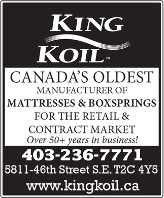 King Koil Sleep Products (403-236-7771) - Display Ad - 403-236-7771 403-236-7771  403-236-7771  403-236-7771  403-236-7771