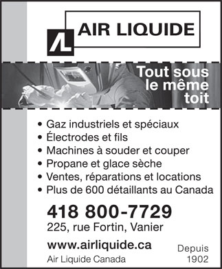 Air Liquide Canada (418-683-1917) - Display Ad