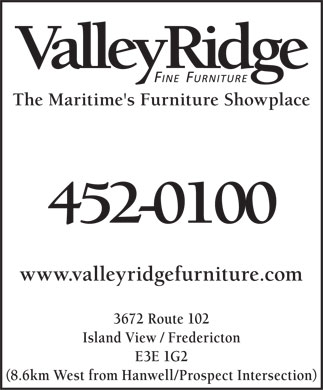 Valley Ridge Furniture (506-452-0100) - Display Ad