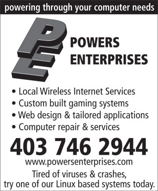 Powers Enterprises (403-746-2944) - Display Ad