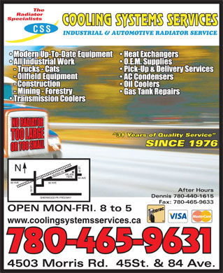 Cooling Systems Services (780-613-0177) - Display Ad