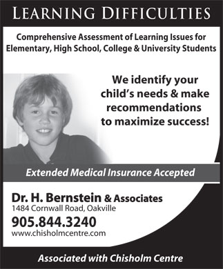 Bernstein Howard Dr & Associates (905-844-3240) - Display Ad
