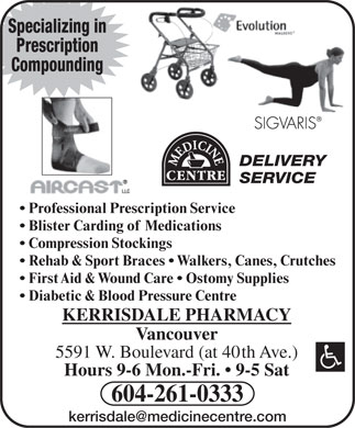 Kerrisdale Pharmacy (604-696-8936) - Annonce illustr&eacute;e