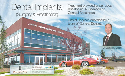 James Lipon Dentistry (780-357-3935) - Annonce illustr&eacute;e