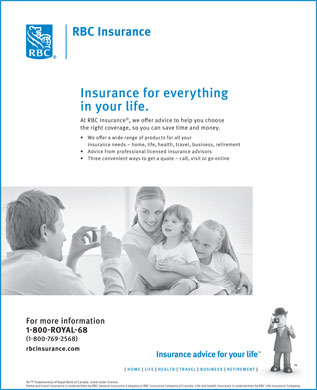 RBC Insurance (1-800-769-2568) - Display Ad
