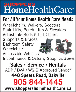Shoppers Home Health Care (905-844-1445) - Display Ad