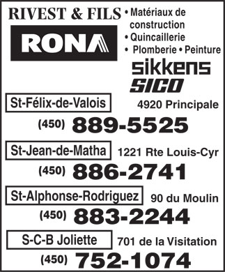 RONA Rivest Et Fils (450-883-2244) - Display Ad