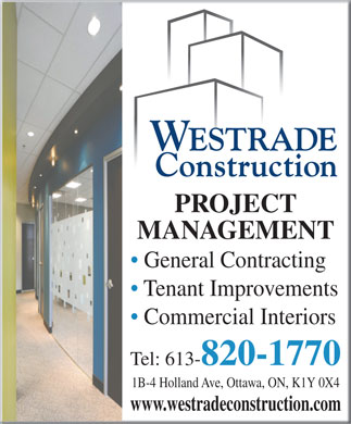 Westrade Construction (613-820-1770) - Display Ad