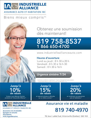Industrielle Alliance Assureance et Services Financiers Inc (819-758-8537) - Annonce illustrée