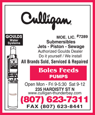 Bole's Feeds (807-623-7311) - Display Ad