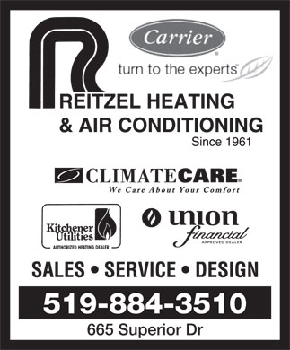 Reitzel Heating & Air Conditioning (519-884-3510) - Display Ad - 519-884-3510 665 Superior Dr  519-884-3510 665 Superior Dr