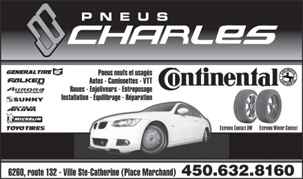 Pneus Charles Inc (450-632-8160) - Display Ad