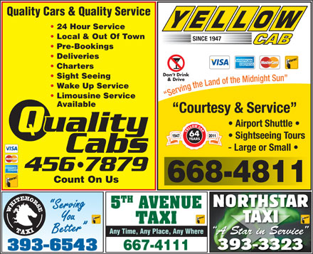 Quality Cabs (867-456-7879) - Display Ad