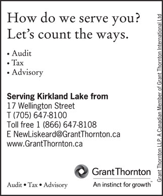 Grant Thornton LLP (705-647-8100) - Display Ad