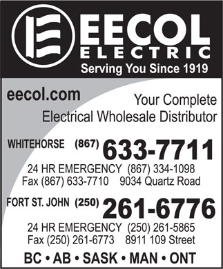 EECOL Electric (867-633-7711) - Display Ad