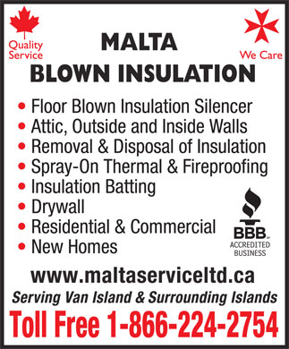Malta Blown Insulation (250-388-0278) - Display Ad
