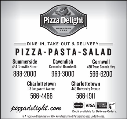 Pizza Delight (902-566-1911) - Annonce illustr&eacute;e