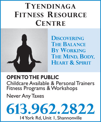 Tyendinaga Fitness Resource Centre (613-962-2822) - Display Ad