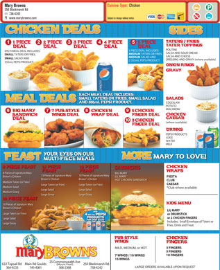 Mary Brown's (709-364-9233) - Menu
