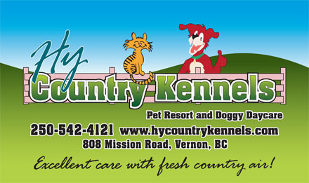 HY Country Pet Resort (250-542-4121) - Annonce illustr&eacute;e