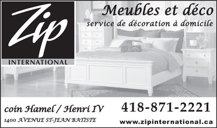 ZIP International Ltée (418-871-2221) - Annonce illustrée